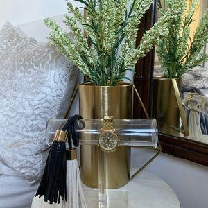 Michael Kors Women's Ritz Studded Goldtone Watch